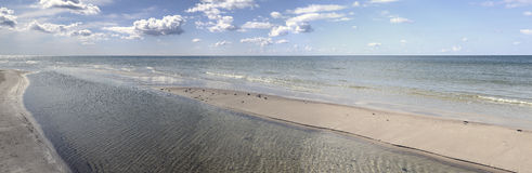 Panorama on a Baltic sea Stock Image