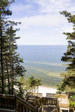 Panorama Baltic sea. In summer Royalty Free Stock Photos