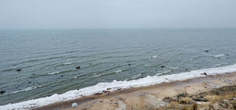 Panorama of Baltic sea at winter Royalty Free Stock Image