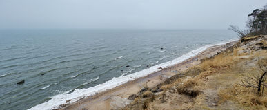 Panorama of Baltic sea at winter Stock Image