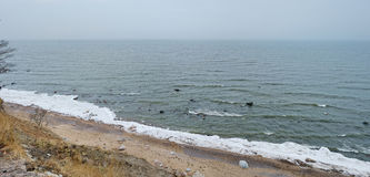 Panorama of Baltic sea at winter Royalty Free Stock Photography
