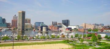 Panorama of Baltimore Maryland inner Harbor Royalty Free Stock Photo