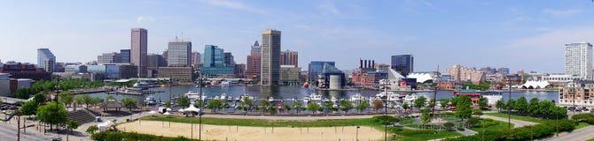 Panorama of Baltimore Maryland inner Harbor Stock Photography
