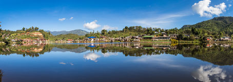 Panorama Ban rak thai village. Royalty Free Stock Photo