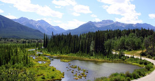 Panorama Banff National Park, Canada. Panorama in the Canadian Rockies near Lake Louise, Banff National Park, Alberta Royalty Free Stock Photo