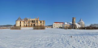 Panorama of Banffy Castle in Bontida, Romania Stock Photo