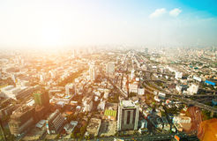 Panorama of Bangkok Stock Images