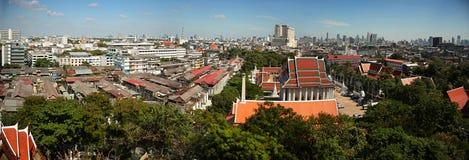 Panorama of Bangkok city Stock Photos