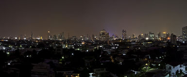 Panorama of Bangkok city downtown Royalty Free Stock Photos