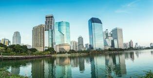 Panorama,Bangkok city at evening,Thailand Royalty Free Stock Image