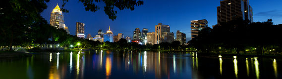 Panorama bangkok city at night. Stock Photo