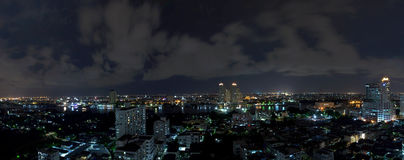 Panorama bangkok city at night. Royalty Free Stock Photos