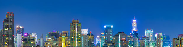 Panorama of bangkok city. Royalty Free Stock Image