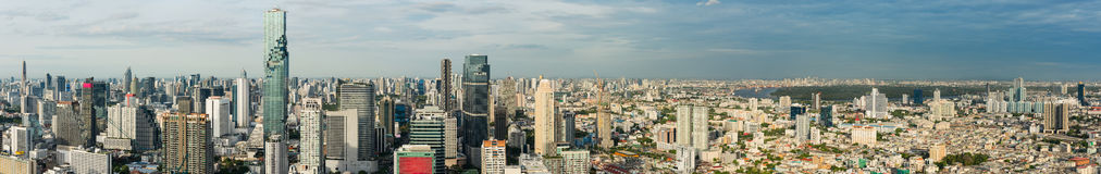 Panorama of Bangkok City of Thailand. Stock Photo