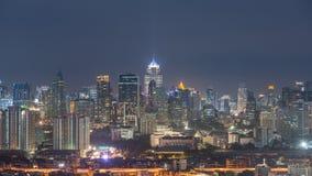 Panorama of Bangkok City town at night, Bangkok, Thailand Royalty Free Stock Images