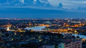 Panorama bangkok cityscape. At night Royalty Free Stock Photos
