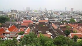 Panorama of Bangkok downtown stock footage