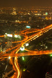 Panorama of Bangkok expressway Stock Photography