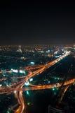 Panorama of Bangkok expressway Stock Image