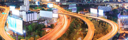 Panorama Bangkok Highway Royalty Free Stock Images