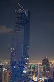 Panorama of Bangkok at night Stock Images
