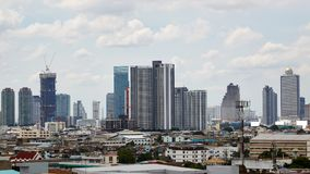 Panorama Bangkok pejzaż miejski, Tajlandia zdjęcie stock
