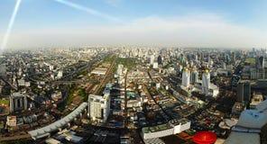 Panorama of Bangkok from the roof Baiyoke Sky Royalty Free Stock Photography