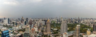 Panorama of Bangkok`s city skyline Stock Photography
