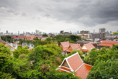 Panorama of Bangkok, Thailand Royalty Free Stock Photo
