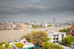 Panorama of Bangkok from Wat Arun temple Stock Images