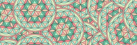 Flower of life as a seamless panorama pattern Stock Image