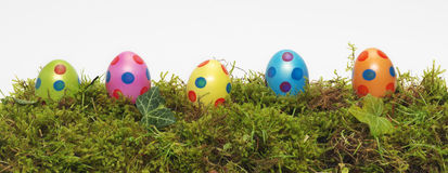 Panorama banner of Easter Eggs Stock Photo