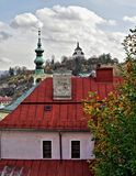 Panorama in Banska Stiavnica city, Slovakia Stock Photography