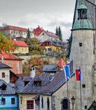 Panorama in Banska Stiavnica city, Slovakia Royalty Free Stock Images