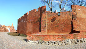 Panorama of barbican in Warsaw Stock Images