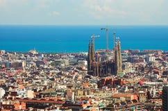 Panorama a Barcellona, Fotografia Stock Libera da Diritti