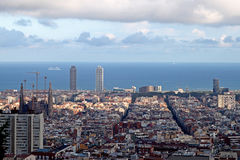 Panorama Barcellona Fotografia Stock Libera da Diritti