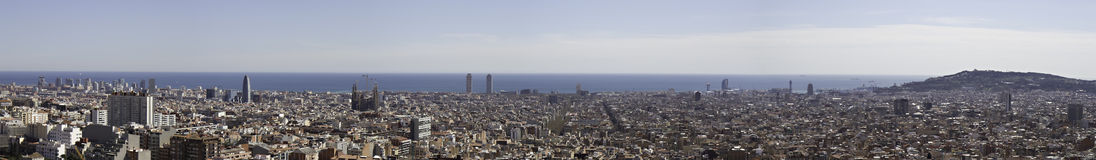 Panorama of Barcelona Stock Images