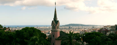 Panorama  of Barcelona   Stock Photos