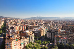 Panorama of Barcelona Royalty Free Stock Photos