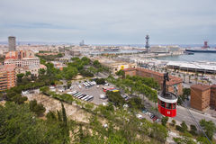 Panorama Barcelona. Panorama of Barcelona (Spain) from Montjuice stock photos