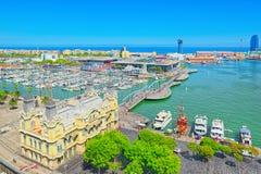 Panorama Barcelona Autoridade portuária - almirante Historic Authority fotos de stock
