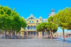 Panorama Barcelona Autoridade portuária - almirante Historic Authority imagens de stock royalty free