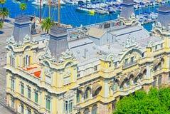 Panorama Barcelona Autoridade portuária - almirante Historic Authority imagens de stock