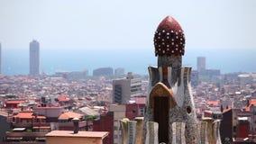 Panorama of Barcelona, Catalonia, Spain Royalty Free Stock Image