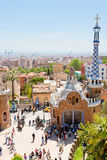Panorama of Barcelona city from Park Guell Royalty Free Stock Photos