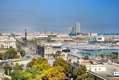 Panorama Barcelona Stock Photo