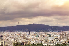 Panorama of barcelona Royalty Free Stock Image