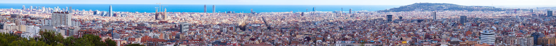 Panorama of Barcelona from high place Royalty Free Stock Images