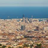 Panorama Barcelona Royalty Free Stock Photos